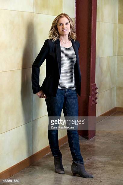 Actress Kim Dickens is photographed for USA Today on February 24 2015 in Beverly Hills California