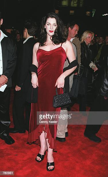 Actress Kim Director attends the premiere of her new movie 'Book Of Shadows Blair Witch 2' October 23 2000 in Hollywood CA