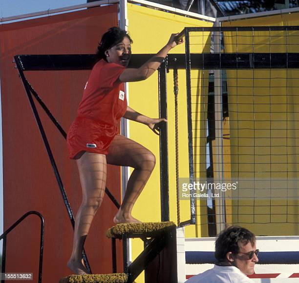Actress Kim Fields attends the taping of Battle of the Network Stars on April 1 1984 at Pepperdine University in Malibu California