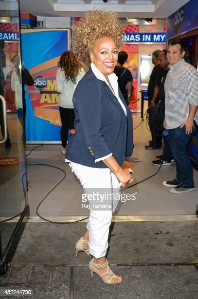 Actress Kim Fields enters the Good Morning America taping at the ABC Times Square Studios on July 16 2014 in New York City