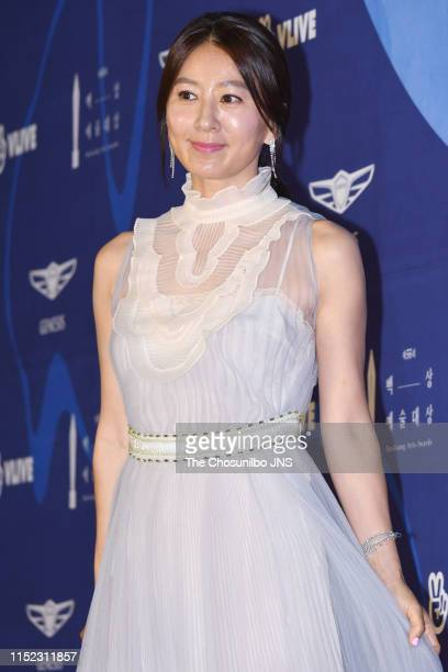 Actress Kim Hee Ae attends the 55th Baeksang Arts Awards held at COEX in southern Seoul on May 1 2019 in Seoul South Korea