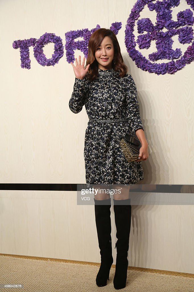 Actress Kim Hee-Seon attends Tory Burch flagship store opening ceremony at Kerry Center on October 29, 2014 in Shanghai, China.