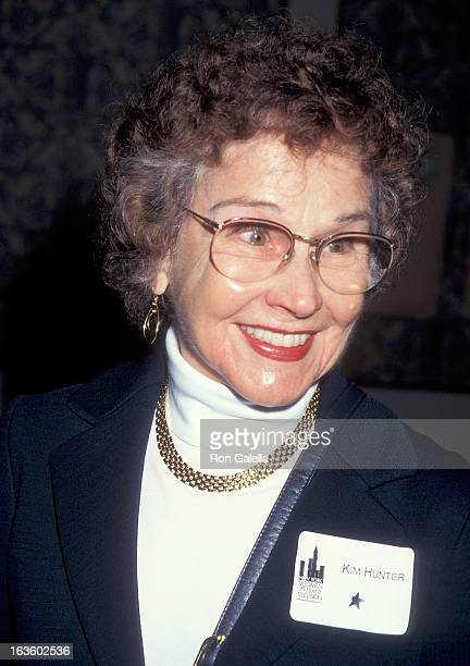 Actress Kim Hunter attends the New York Women in Film and Television's 15th Annual Muse Awards on December 14 1995 at the New York Hilton Hotel in...