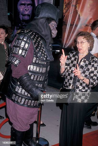 Actress Kim Hunter attends the Planet of the Apes 30th Anniversary Screening on August 27 1998 at the Academy of Motion Picture Arts Sciences in...