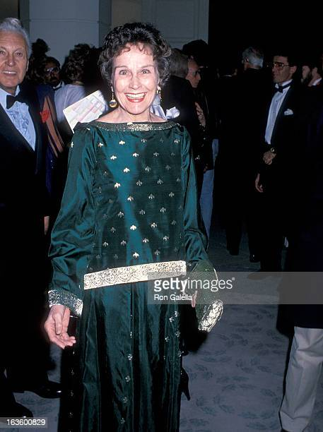 Actress Kim Hunter attends the Sixth Annual American Cinema Awards on January 6 1989 at the Beverly Hilton Hotel in Beverly Hills California