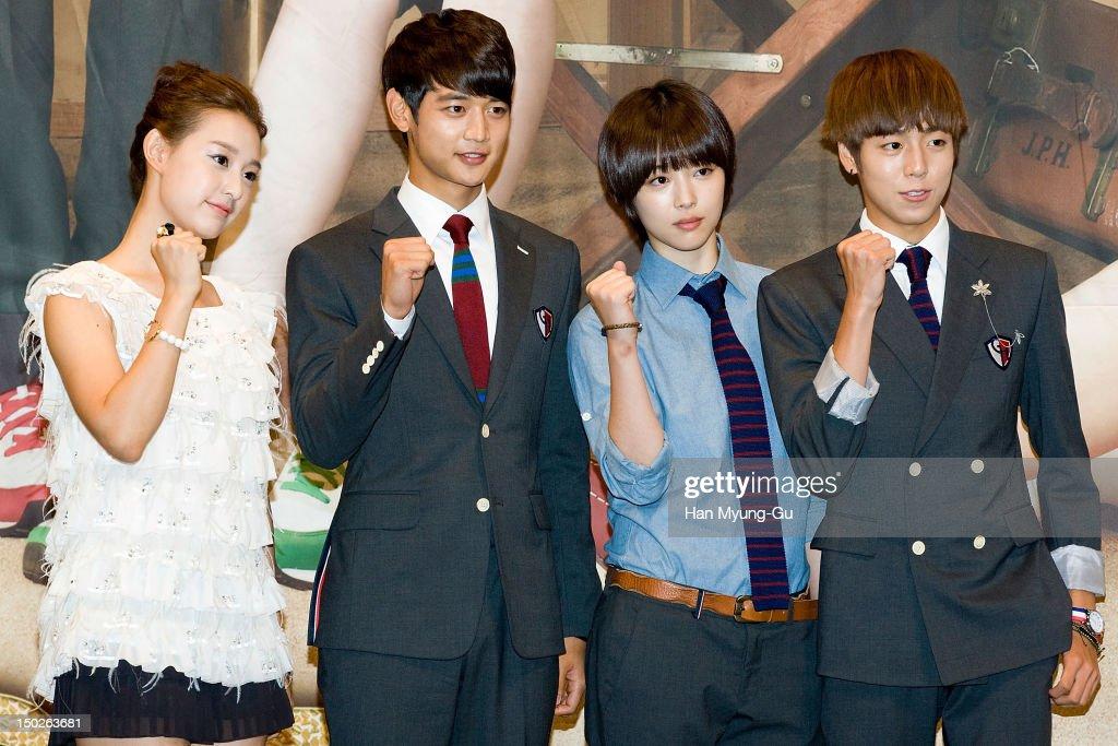 Actress Kim Ji-Won, Minho of South Korean boy band SHINee, Sulli of