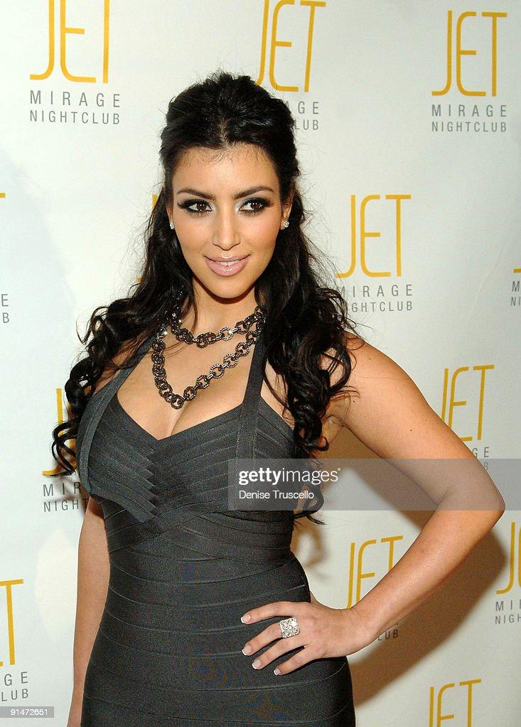 Kim Kardashian's 27th Birthday Celebration At Jet Nightclub At The Mirage : News Photo