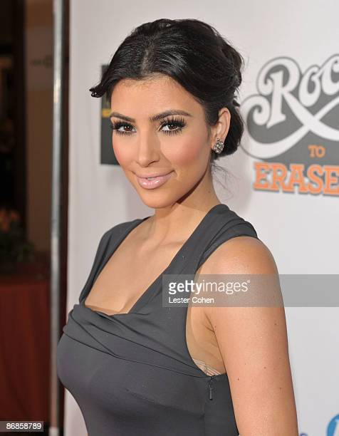 Actress Kim Kardashian arrives at the 16th Annual Race to Erase MS event cochaired by Nancy Davis and Tommy Hilfiger at Hyatt Regency Century Plaza...