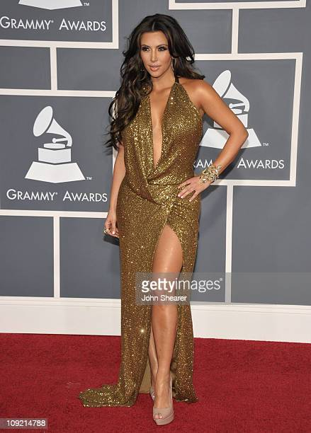 Actress Kim Kardashian arrives at The 53rd Annual GRAMMY Awards held at Staples Center on February 13 2011 in Los Angeles California