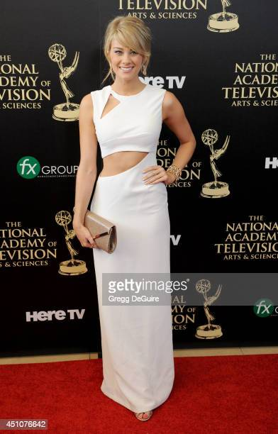 Actress Kim Matula arrives at the 41st Annual Daytime Emmy Awards at The Beverly Hilton Hotel on June 22 2014 in Beverly Hills California