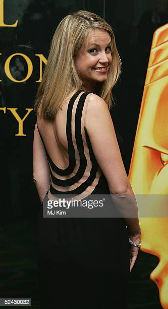 Actress Kim Medcalf attends the annual RTS Programme Awards 2005 presented by The Royal Television Society at Grosvenor House on March 15 2005 in...