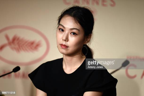 Actress Kim Min Hee attends the The Day After press conference during the 70th annual Cannes Film Festival on May 22 2017 in Cannes France