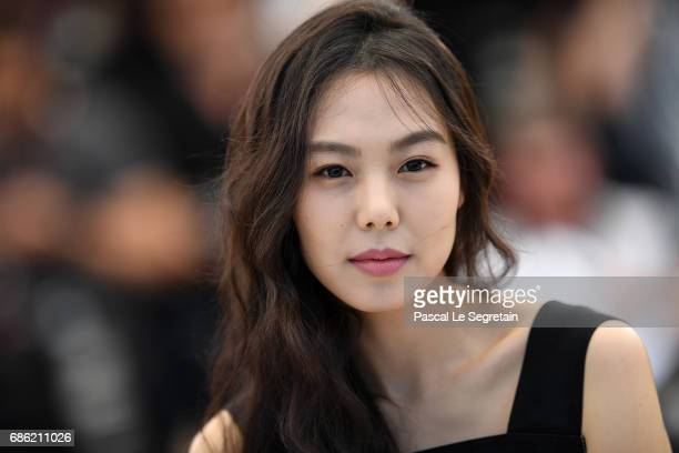 Actress Kim Minhee attends the Claire's Camera photocall during the 70th annual Cannes Film Festival at Palais des Festivals on May 21 2017 in Cannes...