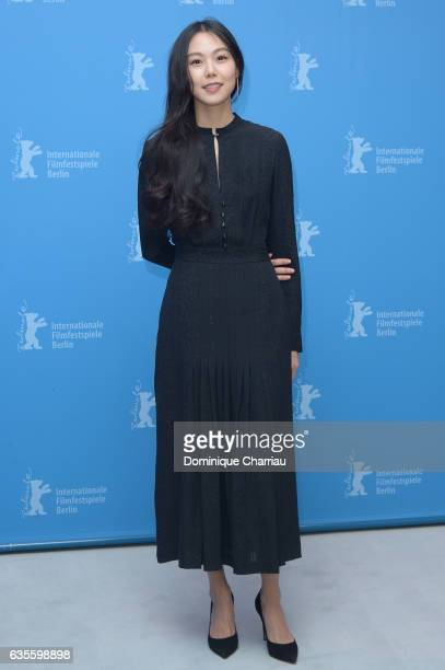 Actress Kim Minhee attends the 'On the Beach at Night Alone' photo call during the 67th Berlinale International Film Festival Berlin at Grand Hyatt...