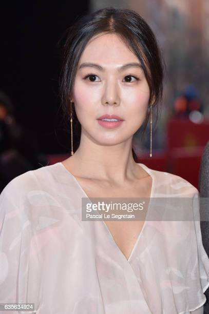 Actress Kim Minhee attends the 'On the Beach at Night Alone' premiere during the 67th Berlinale International Film Festival Berlin at Berlinale...