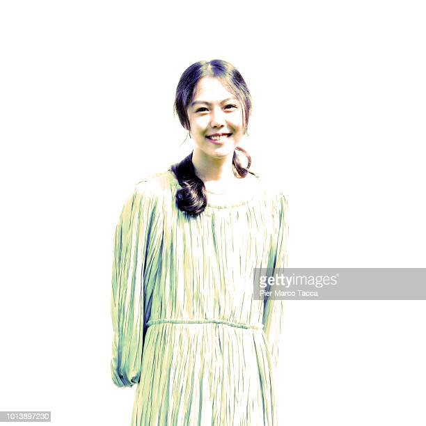 Actress Kim Minhee poses for a portrait session during the 71st Locarno Film Festival on August 9 2018 in Locarno Switzerland