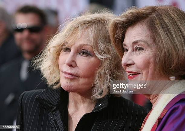 Actress Kim Novak and Diane Baker attends TCM Classic Film Festival opening night gala of Oklahoma at TCL Chinese Theatre IMAX on April 10 2014 in...