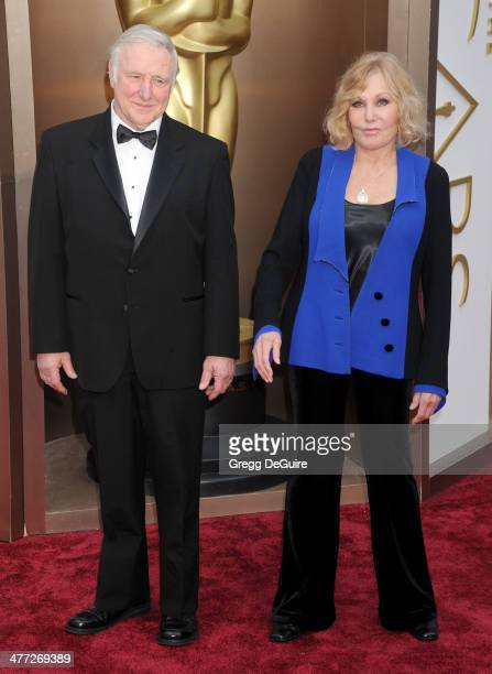 Actress Kim Novak and guest arrive at the 86th Annual Academy Awards at Hollywood Highland Center on March 2 2014 in Hollywood California