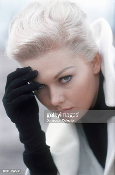 "Actress Kim Novak on the set of the 1958 film ""Vertigo"" on October 12, 1957."