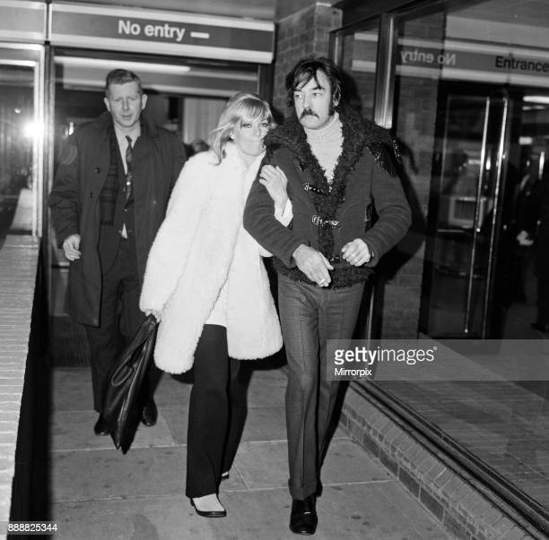 Actress Kim Novak pictured on arrival at London Airport 2nd January 1971