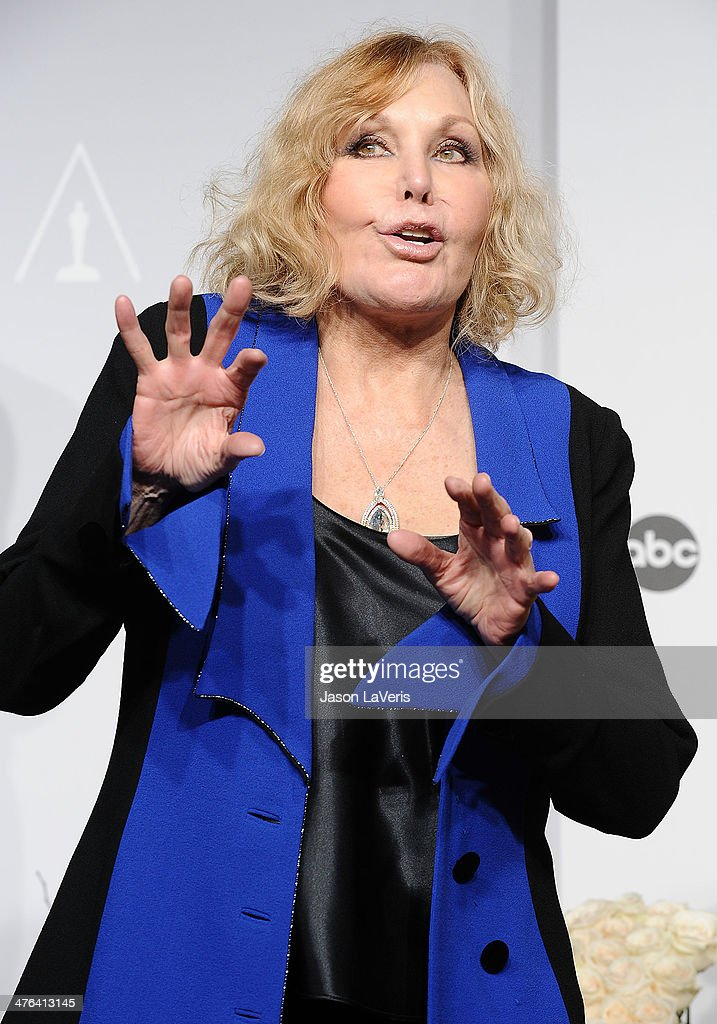 Actress Kim Novak poses in the press room at the 86th annual Academy Awards at Dolby Theatre on March 2, 2014 in Hollywood, California.