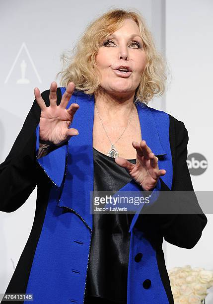 Actress Kim Novak poses in the press room at the 86th annual Academy Awards at Dolby Theatre on March 2 2014 in Hollywood California
