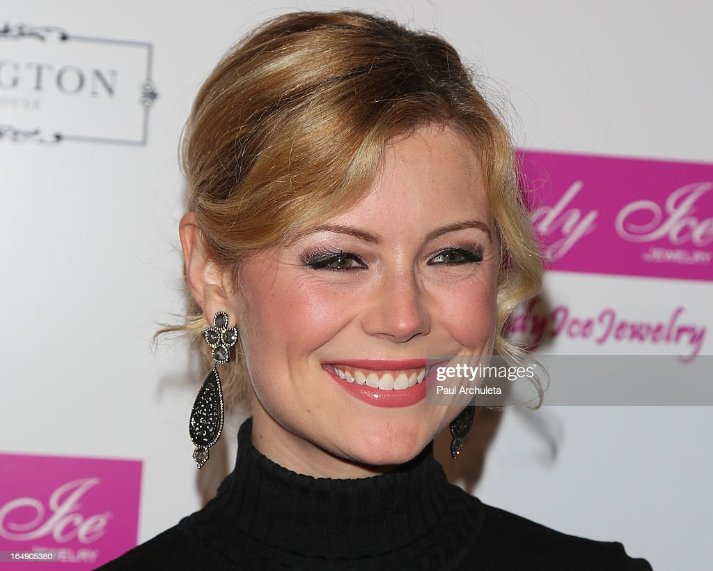 Actress Kim Poirier attends the Fire & Ice Gala Benefiting Fresh2o at the Lexington Social House on March 28, 2013 in Hollywood, California.