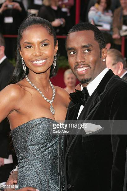 Actress Kim Porter and Rapper Sean P Diddy Combs arrive at the 77th Annual Academy Awards at the Kodak Theater on February 27 2005 in Hollywood...
