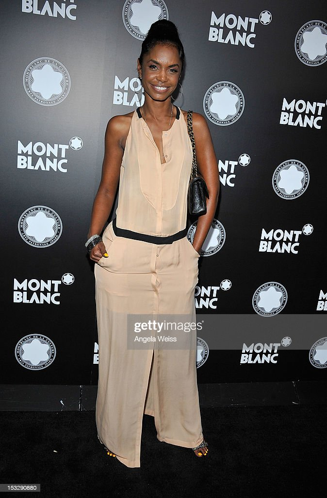 Actress Kim Porter arrives at Montblanc's 2012 Montblanc de la Culture Arts Patronage Award Ceremony honoring Quincy Jones at Chateau Marmont on October 2, 2012 in Los Angeles, California.