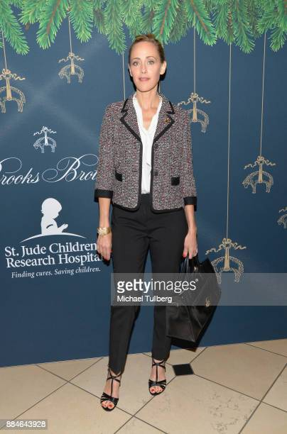 Actress Kim Raver attends Brooks Brothers' celebration of the holidays with St Jude Children's Research Hospital at Brooks Brothers Rodeo on December...