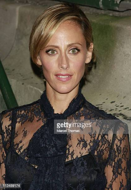 Actress Kim Raver attends the Marc Jacobs Spring 2009 fashion show during Mercedes-Benz Fashion Week at the NY State Armory on September 8, 2008 in...
