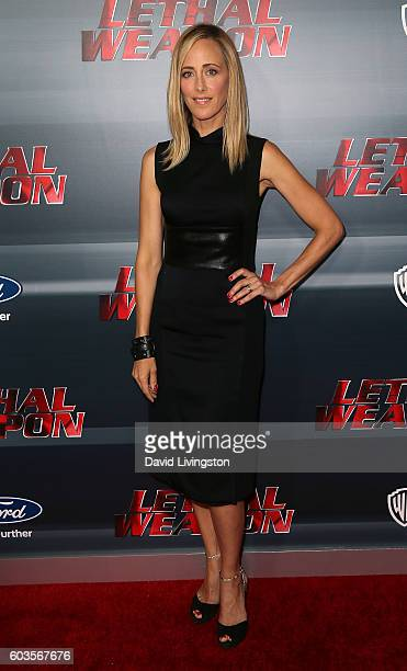 Actress Kim Raver attends the premiere of Fox Network's Lethal Weapon at NeueHouse Hollywood on September 12 2016 in Los Angeles California