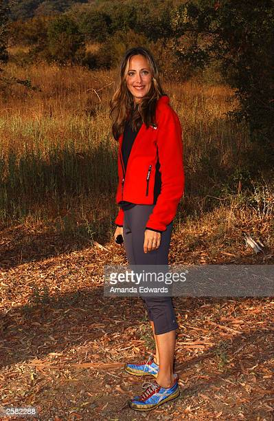 Actress Kim Raver poses at the 8th Annual Expedition Inspiration TakeAHike at Paramount Ranch in the Santa Monica Mountains National Recreation Area...