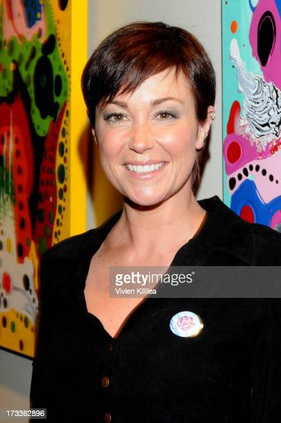 Actress Kim Rhodes attends Hollywood Love Letters Artist Reception at ArcLight Cinemas on July 11 2013 in Hollywood California