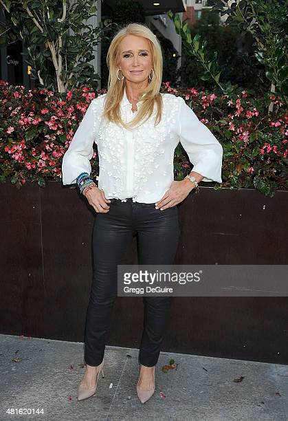 Actress Kim Richards arrives at the premiere of Sharknado 3 Oh Hell No at iPic Theaters on July 22 2015 in Los Angeles California