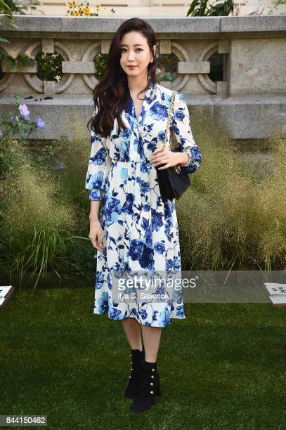 Actress Kim Sarang attends the Tory Burch Spring Summer 2018 Fashion Show at Cooper Hewitt Smithsonian Design Museum on September 8 2017 in New York...