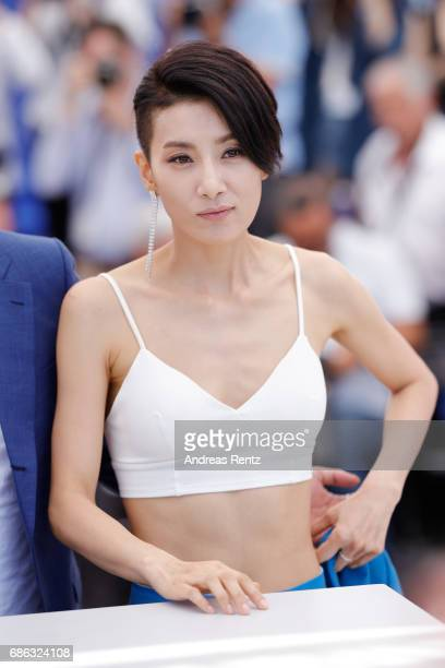 Actress Kim Seo Hyung attends the The Villainess photocall during the 70th annual Cannes Film Festival at Palais des Festivals on May 21 2017 in...