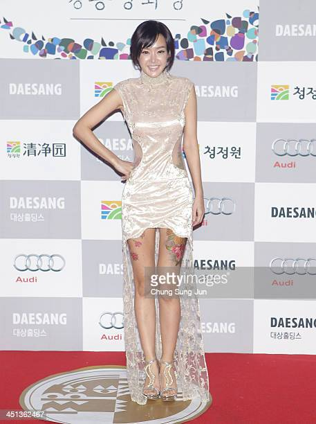 Actress Kim SunYoung arrives for the 34st Blue Dragon Film Awards at Kyung Hee University on November 22 2013 in Seoul South Korea