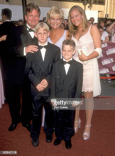 Actress Kim Zimmer husband AC Weary son Max Weary son Jake Weary and daughter Rachel Weary attend the 26th Annual Daytime Emmy Awards on May 21 1999...