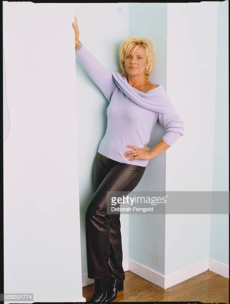 Actress Kim Zimmer in Pale Purple Sweater