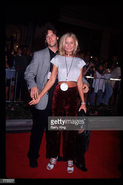 Actress Kimber Sissons and her husband Rick Monroe attend the opening of Planet Hollywood September 17 1995 in Los Angeles CA The Beverly Hills...