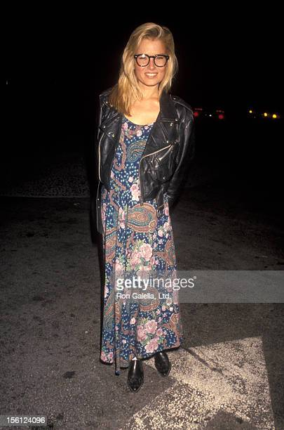 Actress Kimber Sissons being photographed on April 5 1991 at Spago Restaurant in West Hollywood California