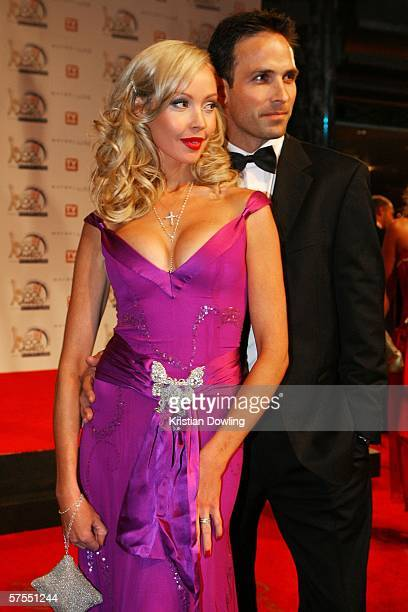 Actress Kimberley Davies arrives with husband Jason Harvey at the 48th Annual TV Week Logie Awards at the Crown Entertainment Complex on May 7 2006...