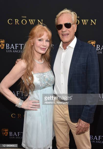 Actress Kimberly Kates and director Randal Kleiser attend the BAFTALA Summer Garden Party at The British Residence on August 19 2018 in Los Angeles...