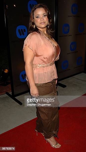 Actress Kimberley Locke arrives at the Warner Music Group 2006 Grammy After Party held at the Pacific Design Center on February 8 2006 in Los Angeles...