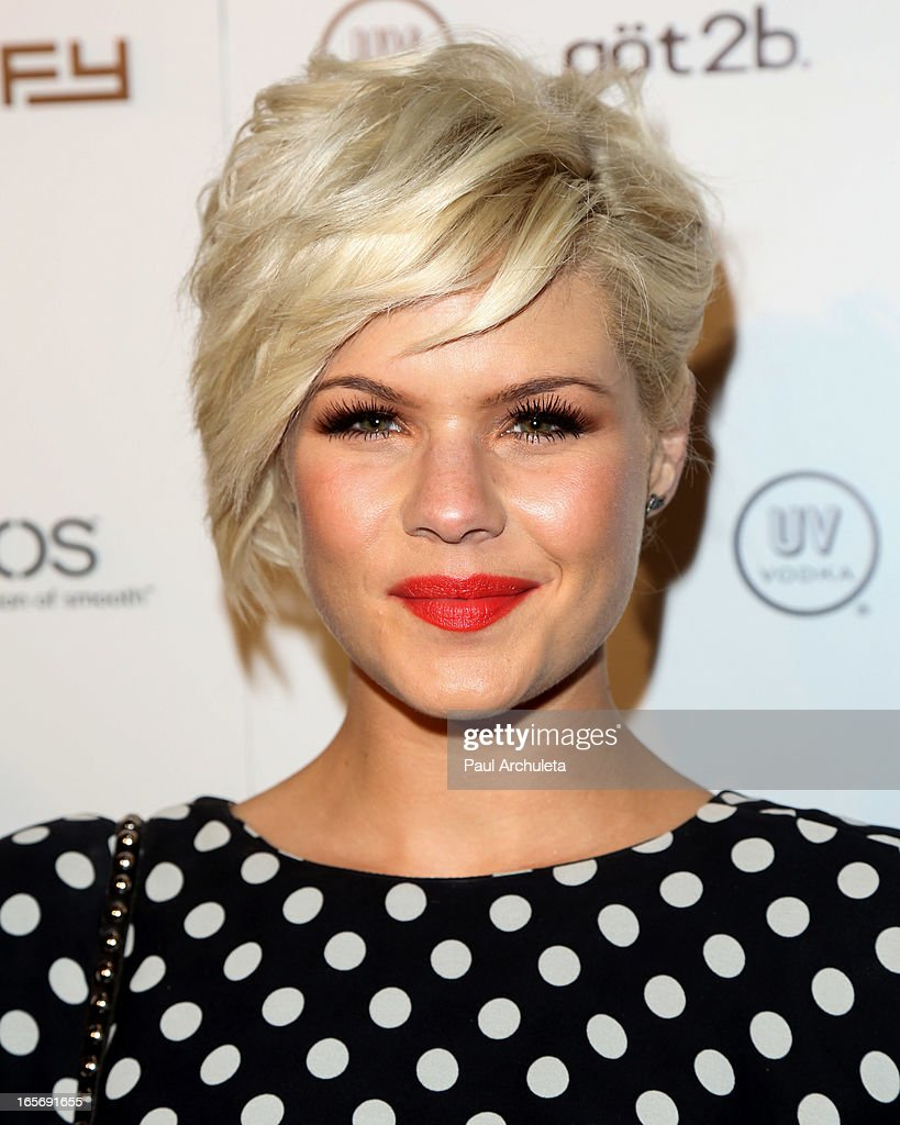 Actress Kimberly Caldwell attends Star Magazine's 'Hollywood Rocks' party at Playhouse Hollywood on April 4, 2013 in Los Angeles, California.