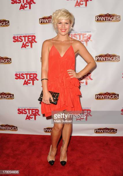Actress Kimberly Caldwell attends the premiere of 'Sister Act' at the Pantages Theatre on July 9 2013 in Hollywood California