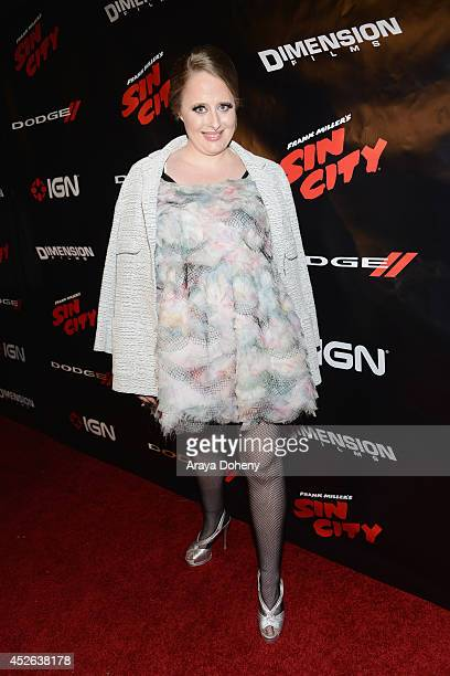 Actress Kimberly Cox attends IGN Sin City A Dame to Kill For ComicCon International Party during ComicCon International 2014 at Hard Rock Hotel San...
