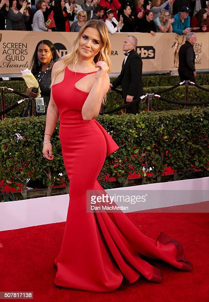 Actress Kimberly Dos Ramosu attends the 22nd Annual Screen Actors Guild Awards at The Shrine Auditorium on January 30 2016 in Los Angeles California