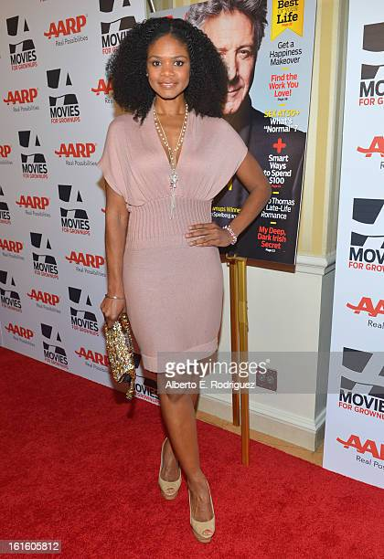 Actress Kimberly Elise arrives to AARP The Magazine's 12th Annual Movies for Grownups Awards Luncheon at Peninsula Hotel on February 12 2013 in...